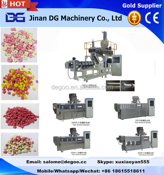 Automatic Flavored Corn Rice Cheese Ball Puff Snack Food Making Machine from Jinan DG Machinery