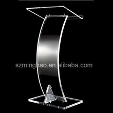 Displays Acrylic Conference Podium, Clear Speaker's Lectern with Base and Lip