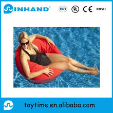 customised luxury pvc comfortable inflatable bean sofa lounger, water floating sofa chair