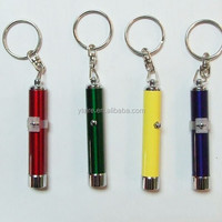 Custom Metal Led Projector Logo Light Keychain For Promotion