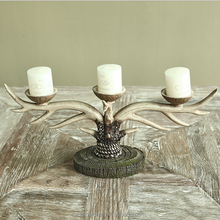 Home goods antiques resin deer antler old fashioned candle holder