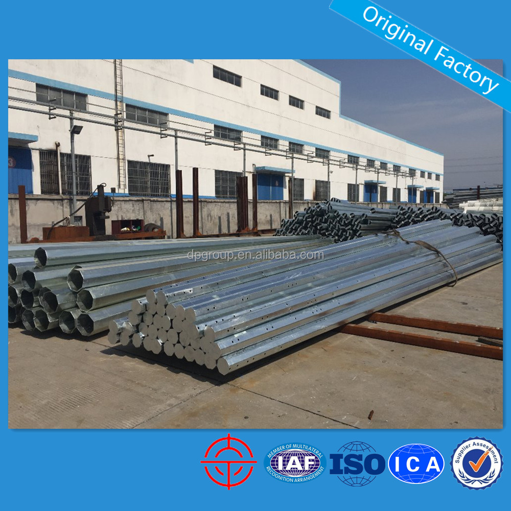 Good Quality Octagonal HDG Steel Pole for Philippines
