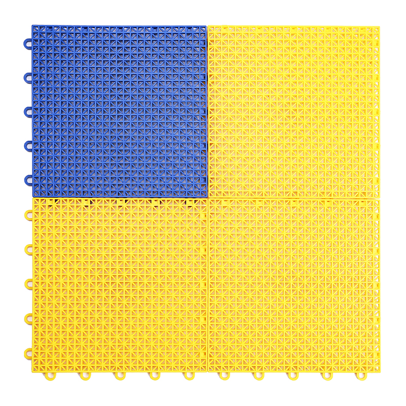 Synthetic outdoor interlocking basketball court flooring