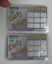 Cheap paper printing custom scratch off lottery scratch tickets