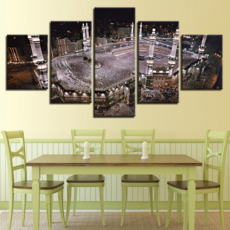 Canvas Print Wall Art Home Decor Pictures Framework 5 Pieces Islamic ...