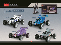 4wd 2.4G 1:43 powerful engine electronic rc 4 wheel-drive kart car