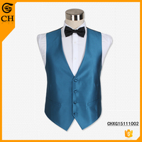 Chunhe Latest New Fashion Cheap Price Men's Summer Wedding Waiter Waistcoat For Men Design