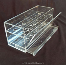 creative design clear acrylic e cigarette display stands and racks with drawer hot selling