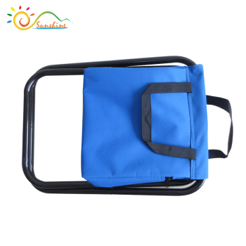 Folding storage cooler bag for fishing stool