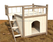 ZPDK1030 Waterproof Outdoor Wooden Dog Kennel With Ladder Veranda On Sale