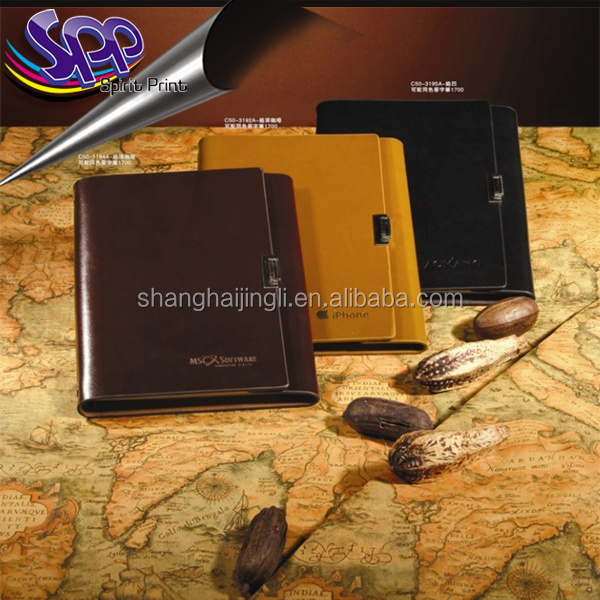 a4 a5 leather soft cover notebook pu covering materials for business or sales promotion