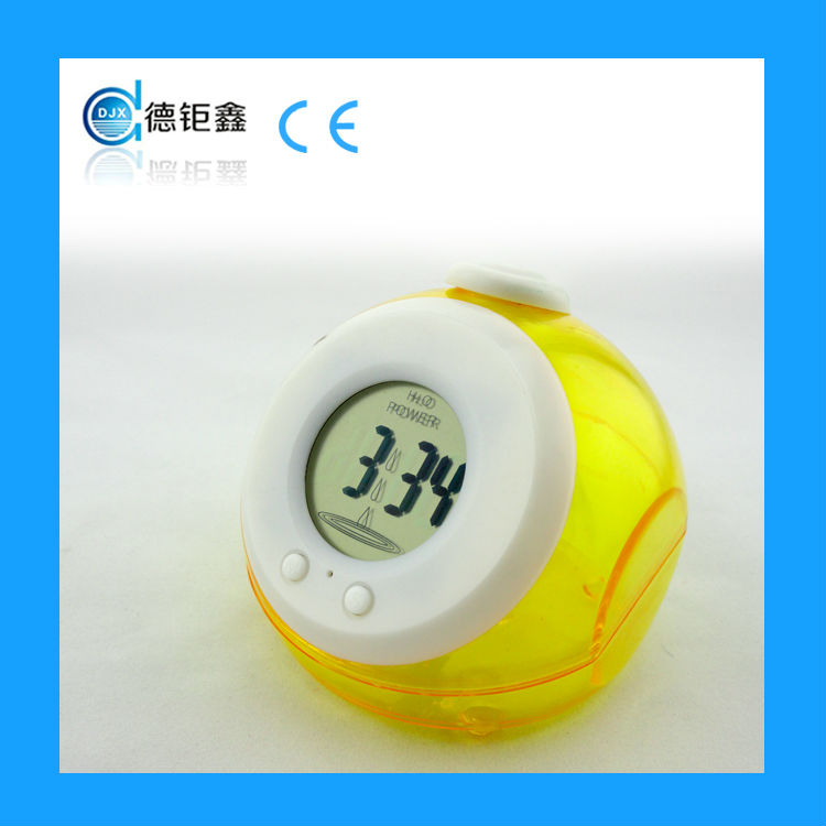 2015 promotional mini water energy clock