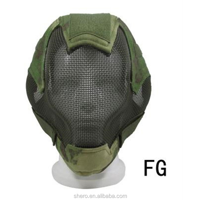 V6 tactical gear steel mesh mask full face training Camouflage Fencing airsoft combat mask