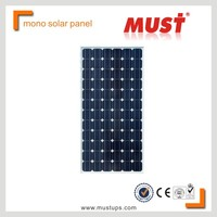 MUST high efficiency mono 250wp solar pv module panel for solar system