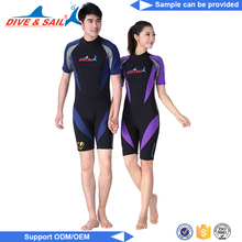 Custom logo men neoprene zipper wetsuit neoprene wetsuit shorty