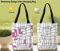 geometry design color changing tote bag