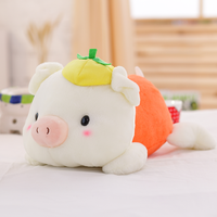 Promotional custom doll stuffed plush animal pig toys