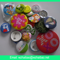 tin button badge with safe pin