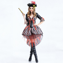 New smart cool women girl cosplay casual pirate Halloween dress costumes