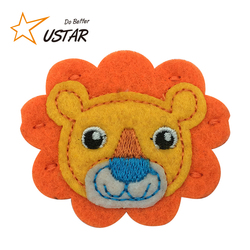 Garment Accessories New Design Cute Cartoon Animal Logo Applique Felt Fabric Embroidery Labels Patches for Baby and Kid
