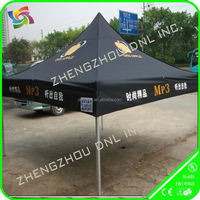 promotional black customized advertising tradeshow canopy pop up tent