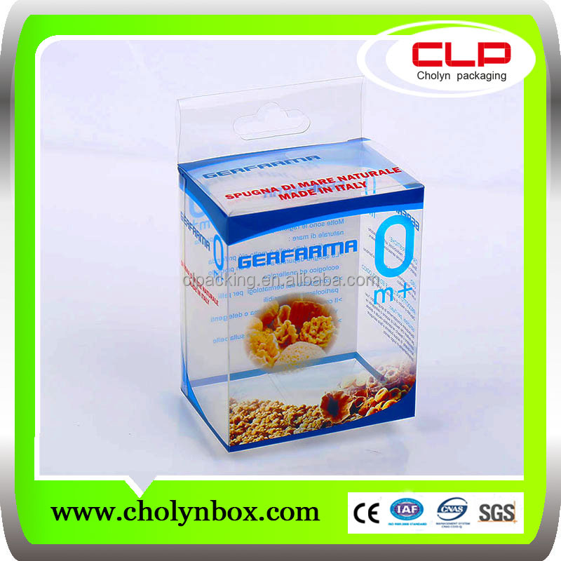 China Shanghai factory wholesale pvc clear plastic packaging boxes
