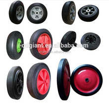 200mm solid rubber tire for trolley