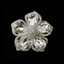 charming initial flower women fashion elegant brooch