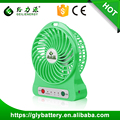Guangzhou factory high speed 5V portable mini usb fan With battery