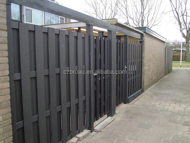 Good sale environmentally friendly wood plastic composite garden fence WPC decorative garden fencing cheap fence panels