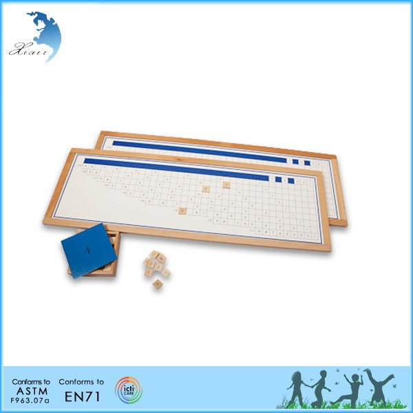school kids Mathematics montessori toys maple wooden toy educational montessori toys Division Working Chart