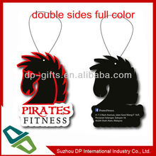 gift diecut hanging car air freshener for promotion