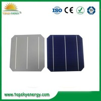 High efficiency best price 6x6 inch photovoltaic monocrystalline solar cell for sale