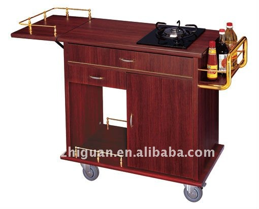 Wooden restaurant Flame Trolley(C-197)