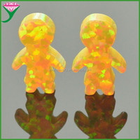 good polished golden japan synthetic boy Shape opal for pendant
