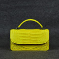 crocodile mini crossbody shoulder bag lady leather handbags yellow