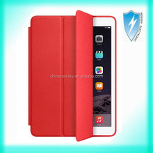 Genuine Leather Smart Case Cover Slim Wake Protector For Apple iPad Air 2 Red