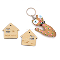 Wholesale Custom Logo No Minimum Wooden Keychains