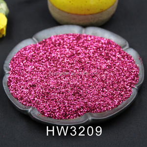 High quality free samples PET glitter powder for apply to Coating & Paint