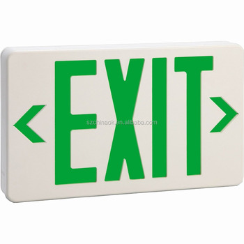 ET-100GX ABS housing UL listed LED Emergency Exit Sign