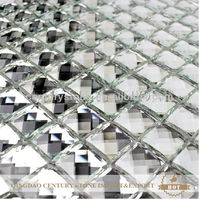 12x12 glass mosaic mirror tiles for walls