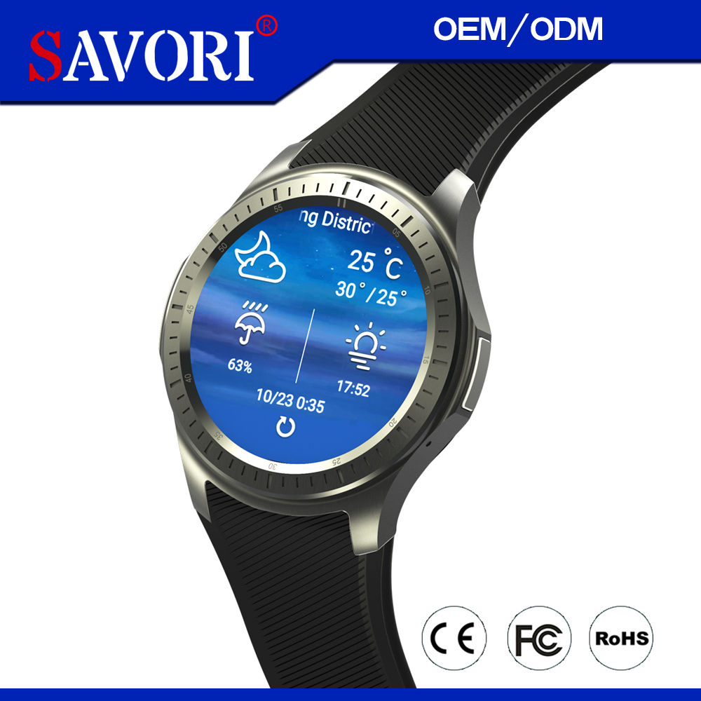 "1.39"" AMOLED Round mobile phone watch MTK 6580 Quad Core smart watch with multiple logistics and free service"