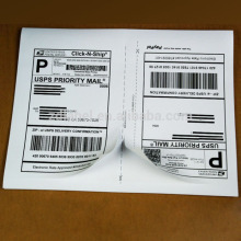 8.5''x5.5'' half sheet laser and inkjet shipping label USPS UPS Fedex for internet express ship