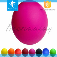 Factory Offer Deep Tiusse Solid Colorful 100% Natural Rubber Lacrosse Ball