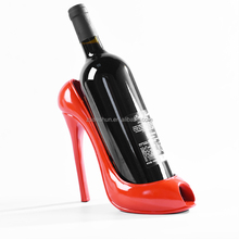 Custom red high heel shoe wine bottle holder