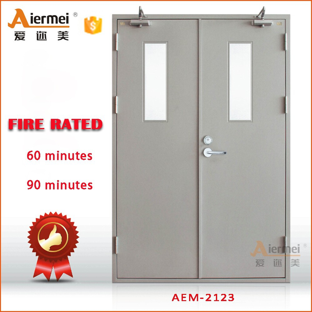 1 hour fire rated with glass double door hotel emergency For1 Hour Fire Rated Door Price