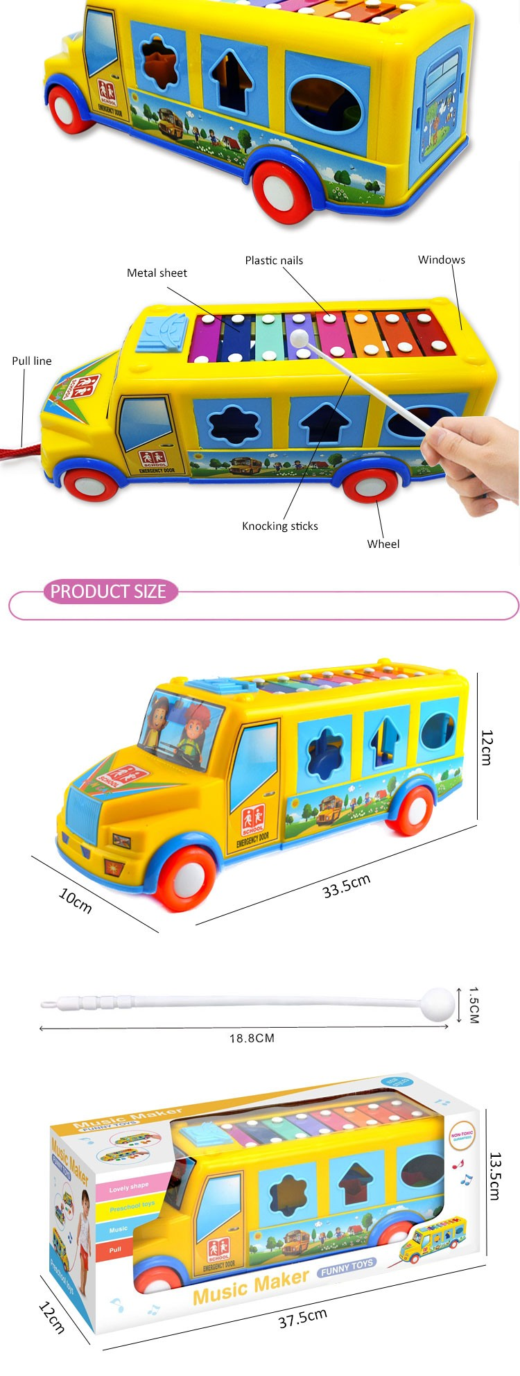 2016 New Product Kids Instrument Baby Toys