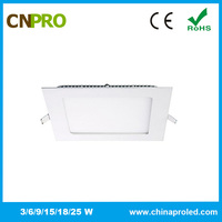 best seller square shape wholesale cheap led light panel 9w with 2 years warranty
