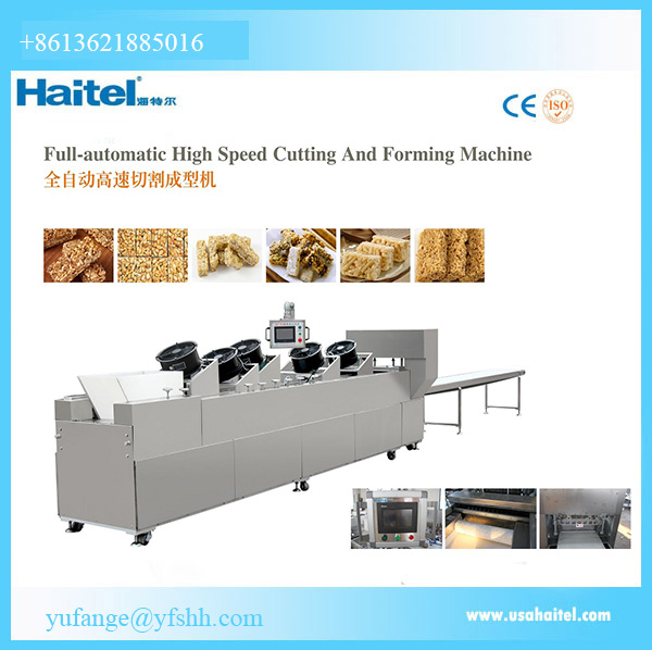 Peanut Chikki Candy Bar Making Machines Cereal Granola Bar Machine