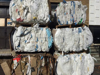 Clean PP Supersac Bags - white- scrap - waste - baled - from Canada